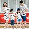 Ocasional de la familia a juego trajes madre e hija vestidos padre e hijo t-shirt mamá y del bebé ropa ropa de la familia, CP11