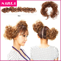 2 Pcs Elastic Hair Ties Fashion Hair Bun Hairpieces Wavy Scrunchee Hair Bang Scrunchie Ponytail Multi-way Updo hair Accessories