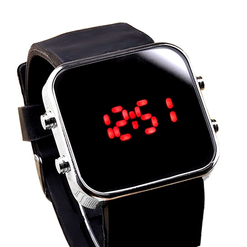 Digital watch men women Mirror LED Watch Digital Sport Unisex Quartz wristwatch watches men Gift digital watch bracelet