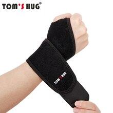 1 Pcs Adjustable Wrist Protect Brace Wristband Tom's Hug Brand Professional Sports Protection Wristbands Wrist Support Black