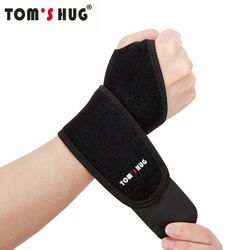 1 Pcs Adjustable Wrist Protect Brace Wristband Tom's Hug Brand Professional Sports Protection Wristbands Wrist Support Black