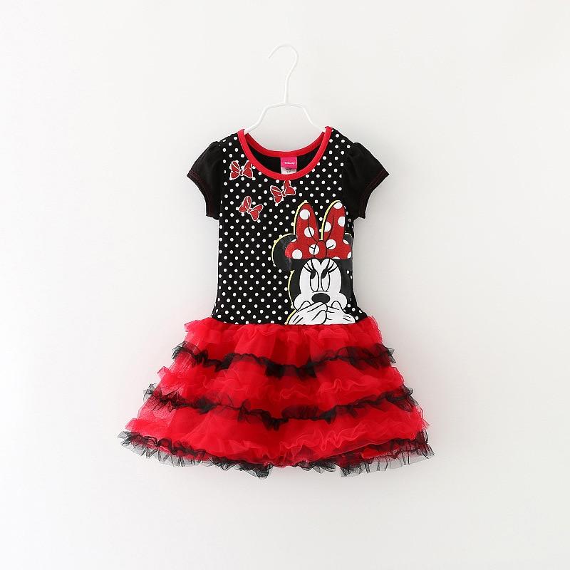 , 10 pieces/lot 2-6 Year Girl Brand Quality Super Nice Minnie summer short Sleeve Tutu Dress,Minnie Mouse Dress