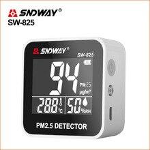 SNDWAY газ анализатор газа детектор PM 2,5 мониторинга качества воздуха PM2.5 детектор электрические с ЖК-дисплей Экран горючие детекторы газа