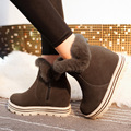 Novas mulheres Coreanas com luvas de cashmere quentes botas sapatos estudante sapatos de muffin aumento da anti-skid