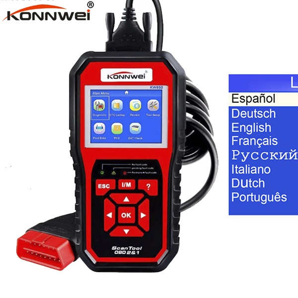 OBD2 Car Diagnostics KW850 OBDII EOBD Auto Scanner Automotive Fault Code Reader Diagnostic tool Car Automotive Tool
