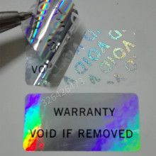 パッケージラベル、レーザー偽造防止ステッカー、保証は無効な、をシールラベル、レーザーボイドラベル、500ピース、3*1.5センチメートル
