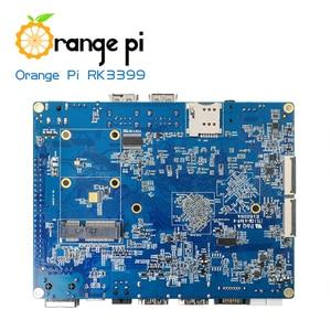 Image 2 - البرتقال بي RK3399 4 GB DDR3 16 GB EMMC ثنائي النواة Cortex A72 مجلس التنمية دعم الروبوت 6.0
