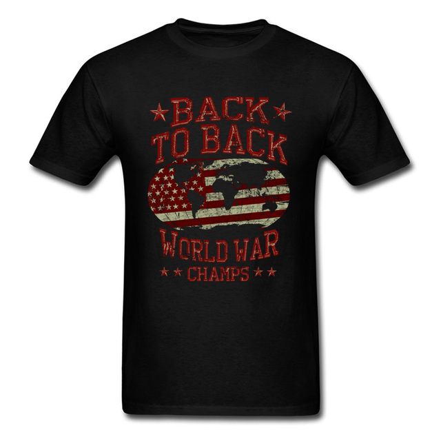 fb27fca4 Back To Back World War Champs 2018 Mens Tshirt Vintage Map Printed Usa T  Shirt Men Letter Clothing Funny Sayings Tee