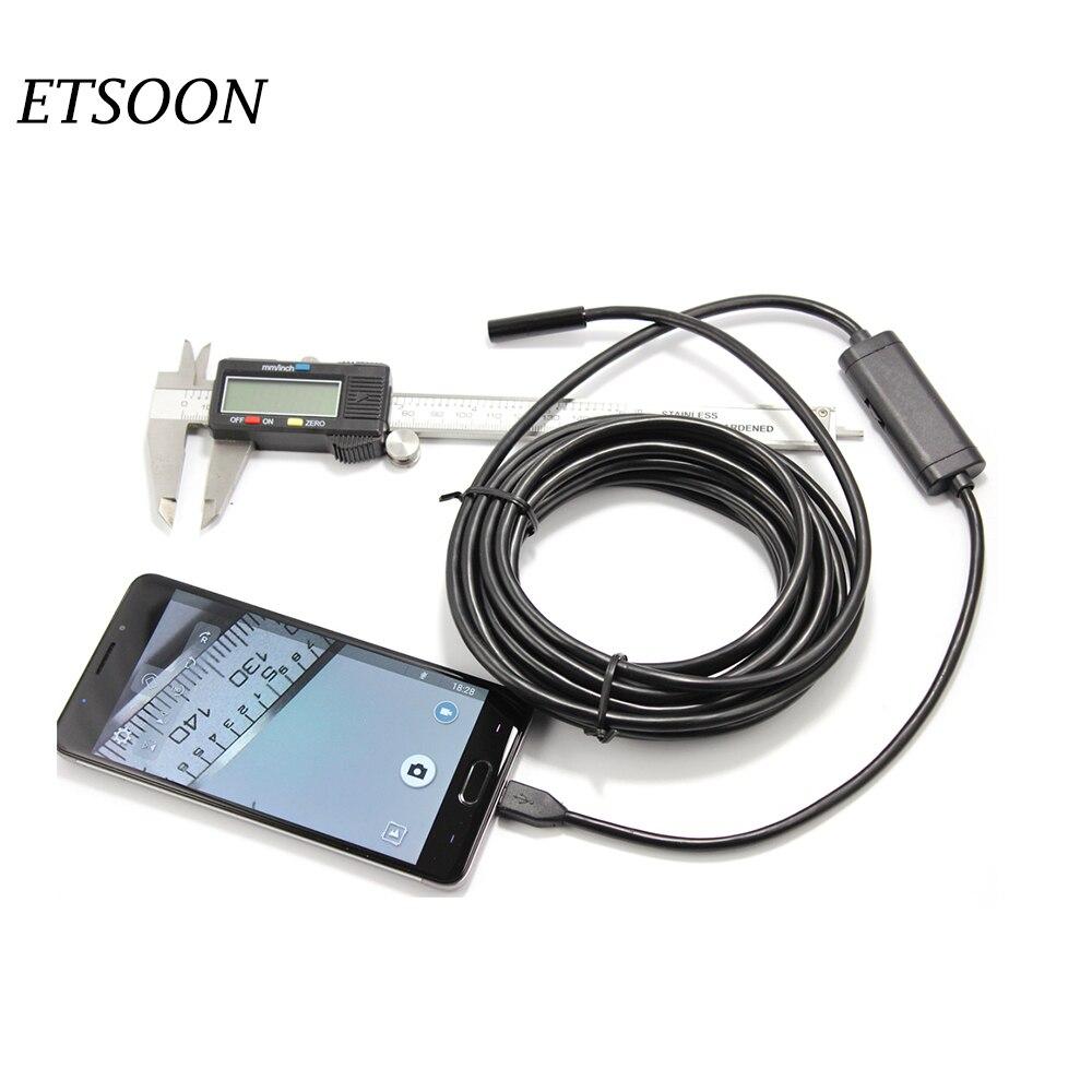 bilder für 2,0 Megapixel 5 Mt/10 Mt/2 Mt Android Endoskop Kamera Wasserdichte Endoskop Webcam 8,0 MM Objektiv 6 LED Unterwasserkameras für Android pc