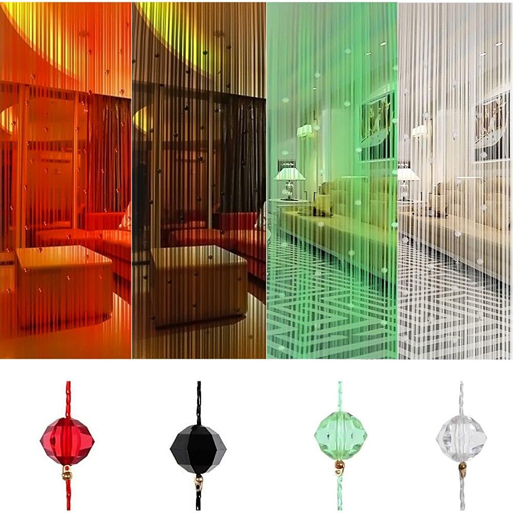 x m taos puerta cortinas de cadena de cristal con cuentas de cristal borla ventana decoracin escarpada para sala de estar div
