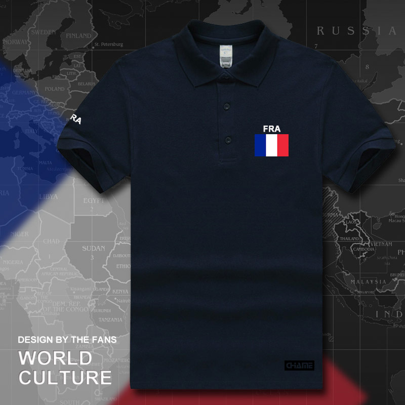 France French Republic polo shirts men short sleeve white brands printed for country 2017 cotton nation team FRA 2017 casual