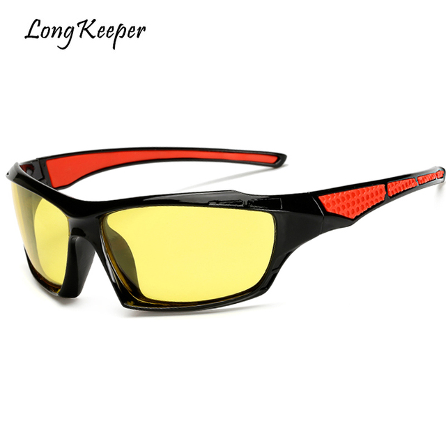be6a461be5b Long Keeper Yellow Night Vision High Definition Polarized Lens For Men  Driving Goggles Glasses Mirror Eyewears Male Accessories