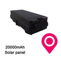 3G WCDMA Солнечный GPS GSM GPRS трекер TK20SGSE для автомобиля с встроенной солнечной панели в реальном времени отслеживать 3G trakcer 20000 мАч