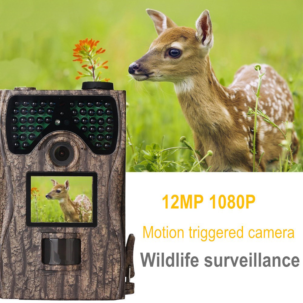 12MP Camera Trap Wildlife Surveillance Camera Night Vision Hunting Camera Infrared HD 1080P Scouting Game Trail Camera 940nm радиотелефон panasonic kx tgh210rub