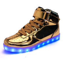 Large Size 35-46 Led Light Shoes 2016 Fashion Luminous Breathable That Lights Up Usb Glowing Shoe Casual Zapatillas Con Luces