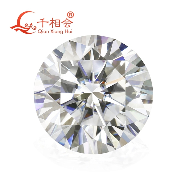 6.5mm DF  color white Round Brilliant cut moissanites loose stone with  certificate 1