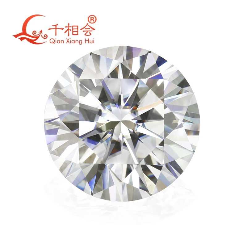 6.5 มม.DF สีสีขาว Round Brilliant CUT moissanites หลวมหินใบรับรอง
