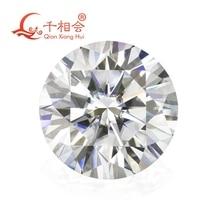6,5 мм DF цвет белый круглый блестящая огранка муассанитов россыпью камня с Сертификат