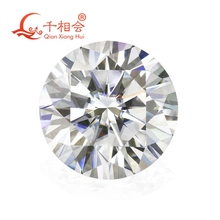 6.5mm DF  color white Round Brilliant cut moissanites loose stone with  certificate