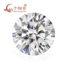 6,5mm DF farbe weiß Runde Brillant geschnitten moissanites lose stein mit GRA zertifikate
