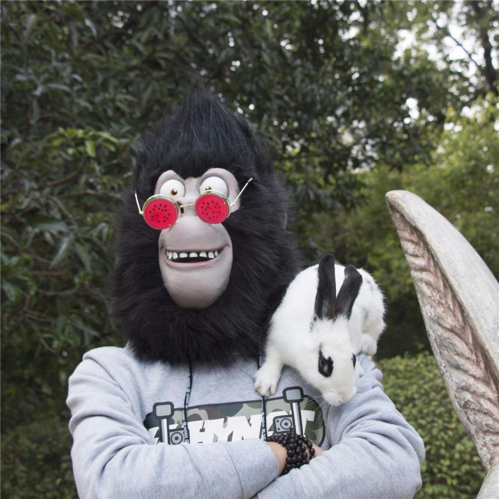 2016 Movie Sing Cosplay Gorilla Johnny Latex  Mask Gorilla Animal Mask Halloween Party (3)