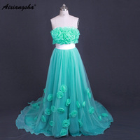 Vintage A Line Green Color Evening Dresses Evening Dresses Tulle Formal Dress Robe De Soiree