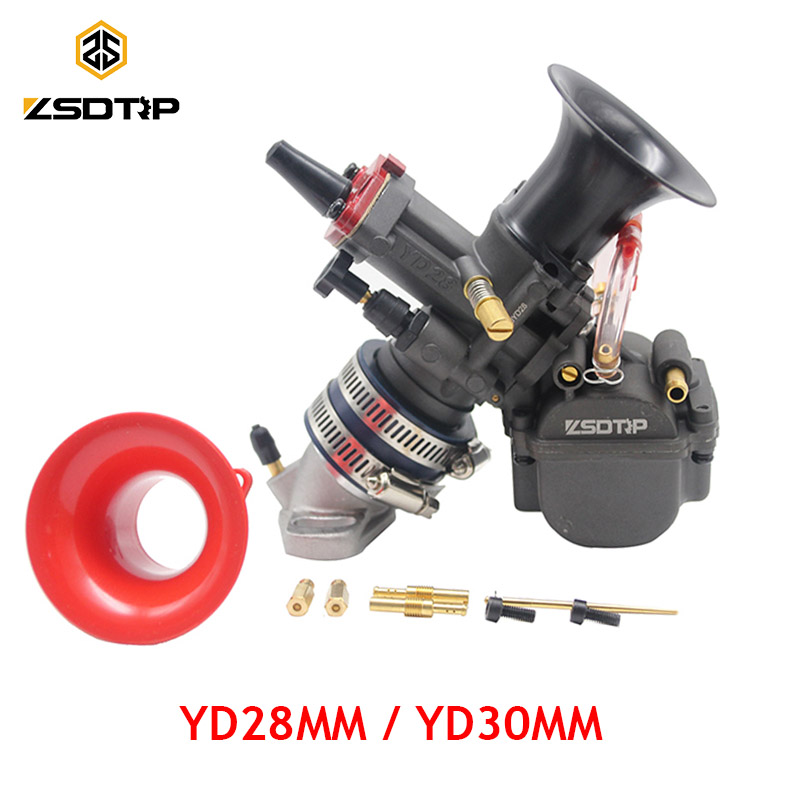 ZSDTRP Universal Maikuni PWK Carburetor YD28 YD30mm Parts Scooters With Power Jet ATV Motorcycle Competitive Racing