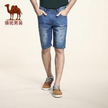 2016 Camel Jeans Men's Slim Fashion Casual Jeans Five Pants Shorts Male Print Jeans X6U269406