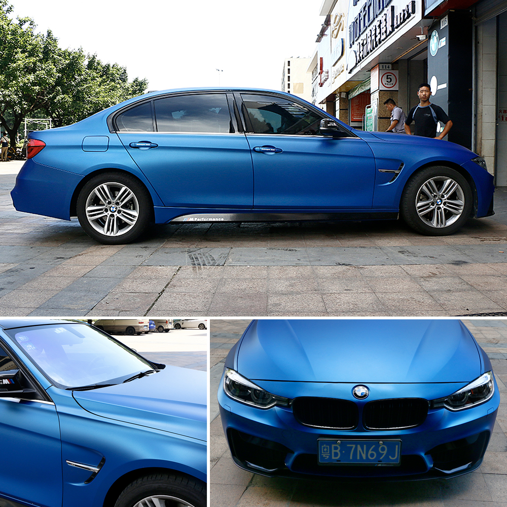 Image 4 - Car styling Matte Chrome Ice Vinyl Film metallic Matte Chrome Vinyl Wrap Automobiles Car Wrapping Stickers with Air Free Bubble-in Car Stickers from Automobiles & Motorcycles