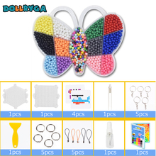 DOLLRYGA 2500PCS DIY Boxed Water Bead Solid Refill Pack Sticky Pegboard Set Toy For Children Craft