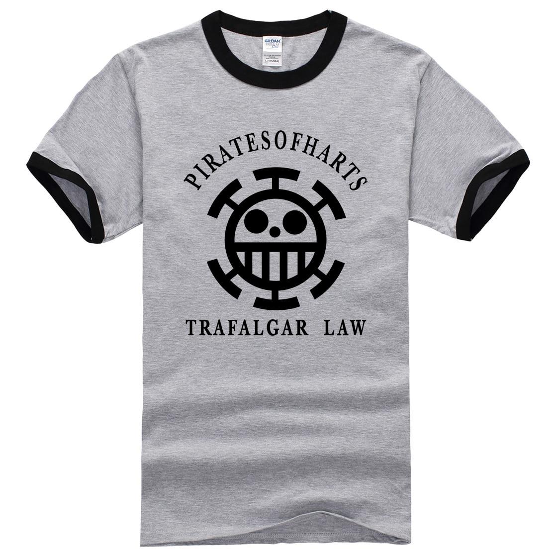 2017 new fashion brand fitness tops Anime One Piece trafalgar law streetwear hipster summer t shirt men boys clothes mma pp