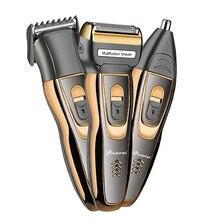 3in1 hoja recargable Afeitadora eléctrica afeitadora de barba rastrojo  máquina de afeitar eléctrica para hombres trimer facial c. 1ed41d6ee10a