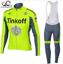 2016 Pro Team Tinkoff Cycling Jersey Long Sleeve Sports Jersey Cycling Clothing Ropa Ciclismo Maillot Bike Clothes