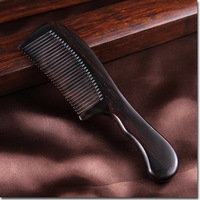 High Quality Upscale Boutique Hair Wooden Combs Precious African Ebony Exquisite Craft Pure Handmade Women Long