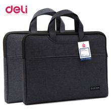 Deli briefcase document bag portable file good qulity durable laptop double layer business officially work