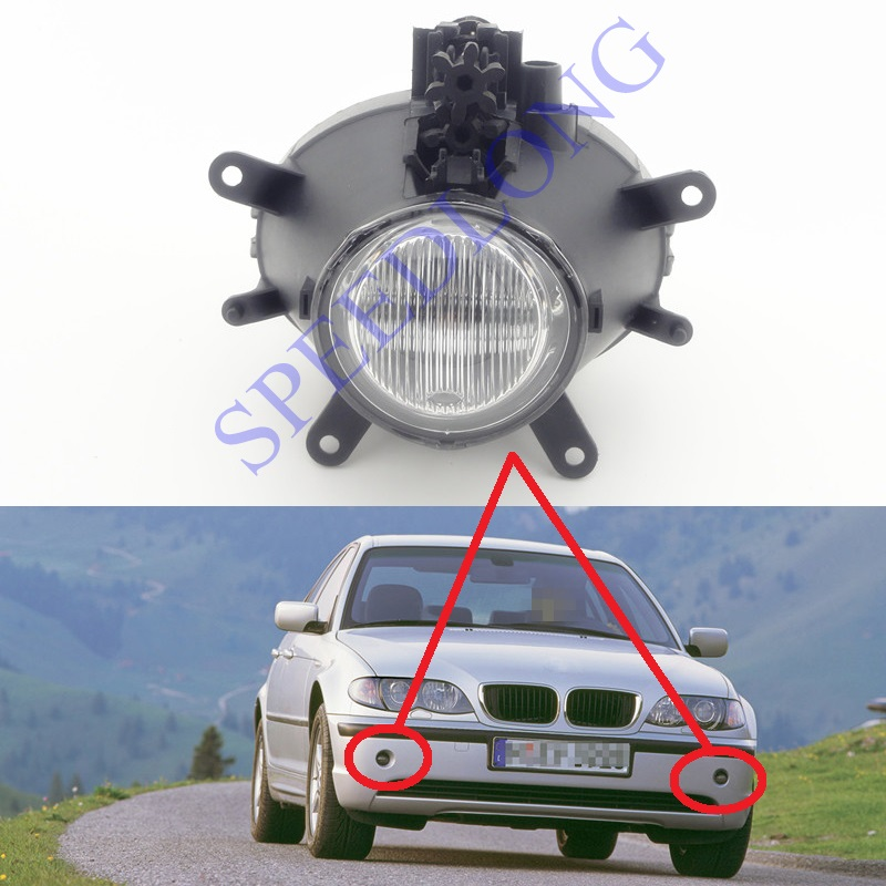 ФОТО 1 PC RH=LH Without bulb front driving bumper fog light lamp for BMW 3 Series E46 New Model 2001-2004