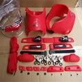 Rojo azul amarillo rosa verde diy brazalete decorar kits traje de seba hv, incluyendo Frenos De Bloque Protector de Punta Punta Cordón de Zapato, etc ..