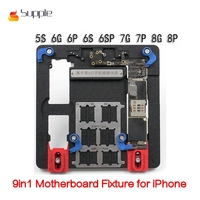 Supple A21 Mobile Phone Repair Tool Motherboard Fixture for iPhone5 6 6S 7 8 Plus IC Chip PCB Board Holder Jig 9 in 1 Fixture