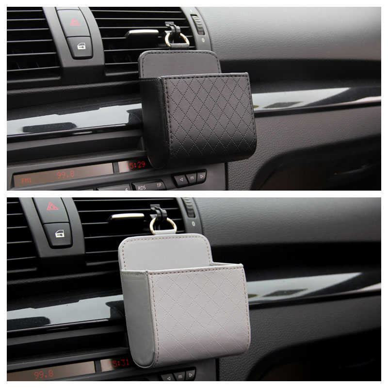 Ящик для хранения автомобилей кожаный Органайзер сумка для телефона и ключа Держатель для BMW F10 F30 E60 Ford Focus 2 3 Fiesta Volkswagen Polo Passat B6