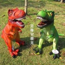 Большой Размеры 65 см динозавр игрушка фигурки тираннозавра мягкий животных модель мальчик игрушки для детей подарок на день рождения
