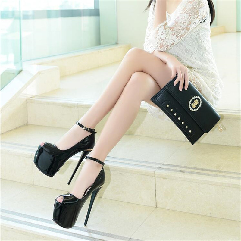 39 Haute Talons Mode blanc Mujer Toe 34 Peep Minces kaki Féminine Femmes Femme Zapatos Noir Taille Rouge Chaussures 38 Ultra 17 Cm Pompes Élégant Boucle qvPf1W