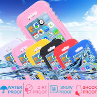 Swimming Pouch Cover for Apple Iphone6 Plus 5.5 / I6 4.7 Hard Clear Transparent Front Back Strap Waterproof Cases for Iphone 6