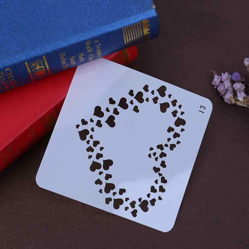 Heart Shaped Layering Stencils For Scrapbooking Painting Template Stamps Photo Album Decorative Embossing Paper Crafts
