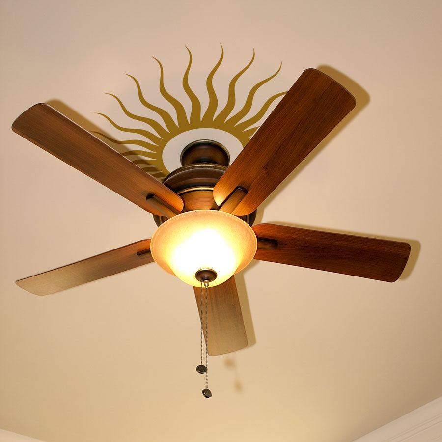 Sunburst Pattern Wall Decal Special Ceiling Fan Houseware