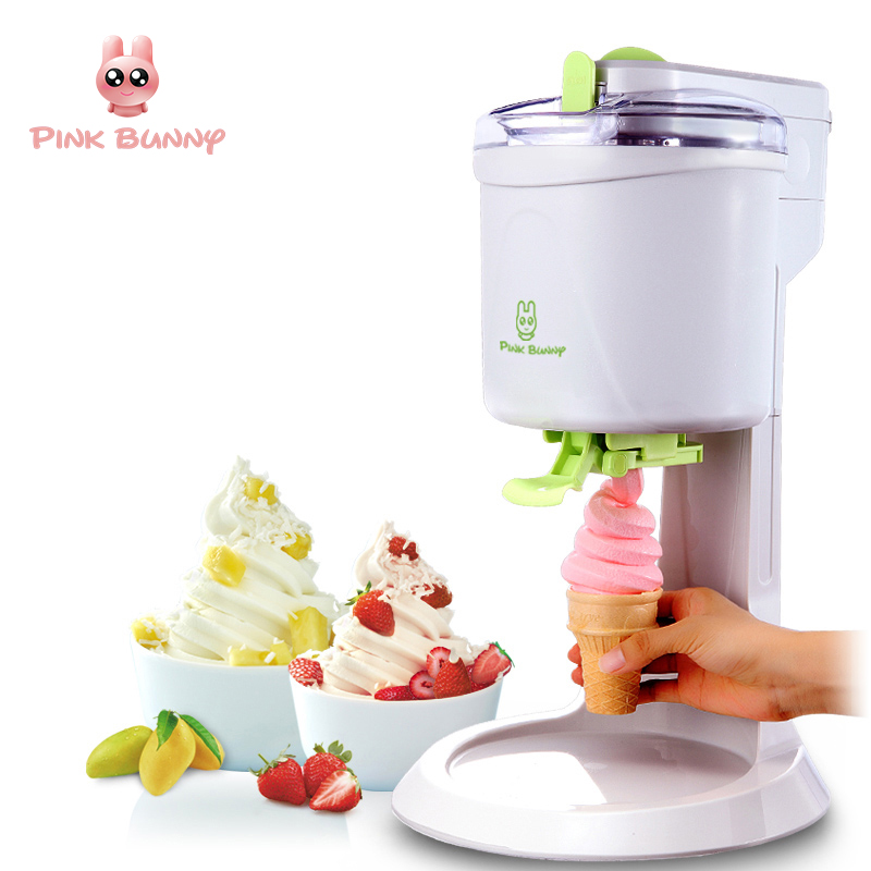 Icecream Machine Fully Automatic Mini Fruit Ice Cream Maker for Home Electric DIY Kitchen Maquina De Sorvete for Kids fully automatic diy fruit ice cream machine silver black
