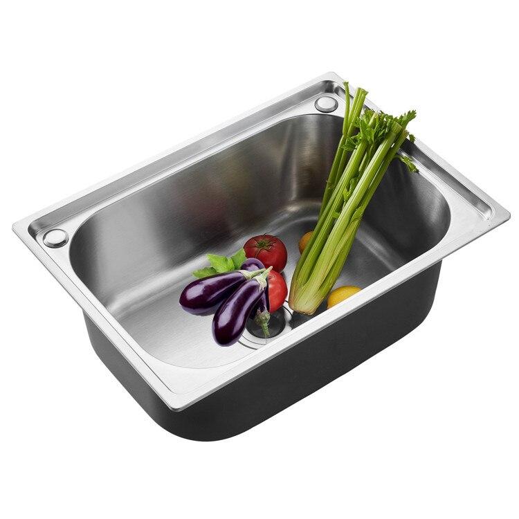 Évier simple bol cuisine évier épais 304 en acier inoxydable taille unique piscine seau évier LU4256