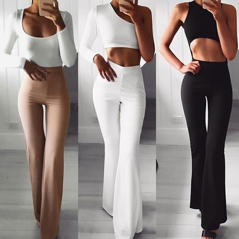 Korean Section Fashion Women Trousers Autumn Winter   Wide     Leg     Pants   Elastic High Waist Female Casual Loose   Pant