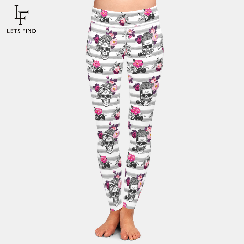 LETSFIND Hot Sale Women Leggings Sexy 3D Skull Digital Printing High Waist Plus Size Fitness Workout Stretch Leggings