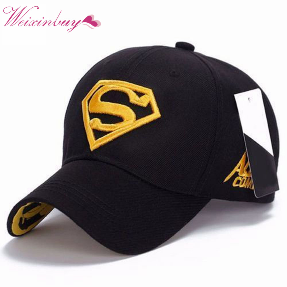 Fashion Men Women Unisex Outdoor Snapback Adjustable Geometric Fit Baseball Caps Superman Hip-hop Casual  Cotton Stretch Hats new 2017 hats for women mix color cotton unisex men winter women fashion hip hop knitted warm hat female beanies cap6a03