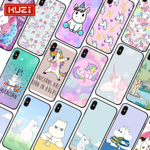 KUZI Cute Hippo Print Iphone 6 6s Plus 7 8 X XR XS Max Case Dirt-resistant Silicone Material Cover Coque for IPhone